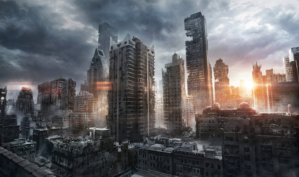 Image result for ruined city concept art