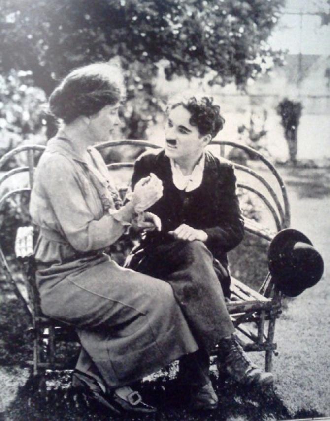 Helen Keller Teaching Charlie Chaplin