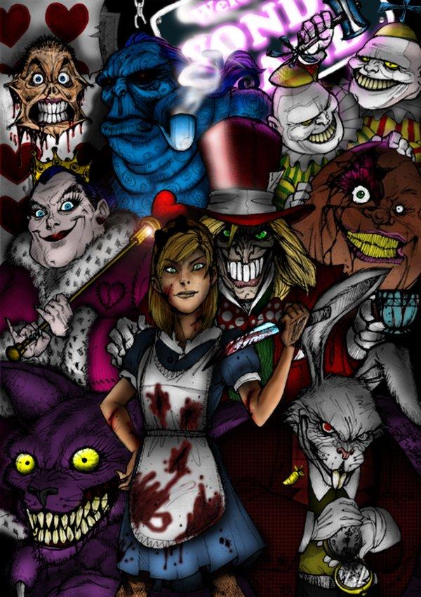 Evil Alice In Wonderland - Creepy Ebaum' World