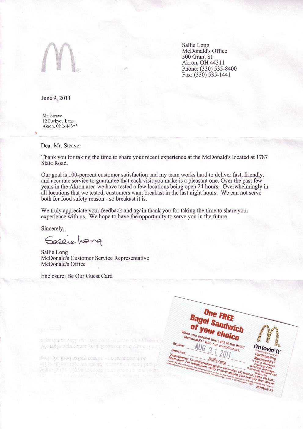 McDonald's Customer Service Fail Picture EBaum's World
