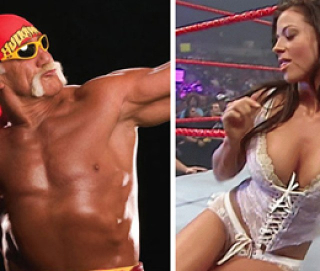 Replay Gallery Hulk Hogan Flexing And Candice Michelle Looking Sexy In Lingerie