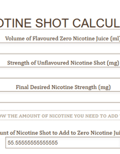 Nic shot calculator also short fill shake   vape  liquid guide what they are how to use rh ecigclick