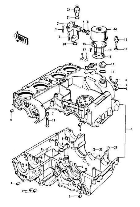 DOWEL PIN SET CRANKCASES Z1-Z900/Z1000