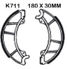 Front brake shoes S1/S2 A1/A7 (GENUINE)
