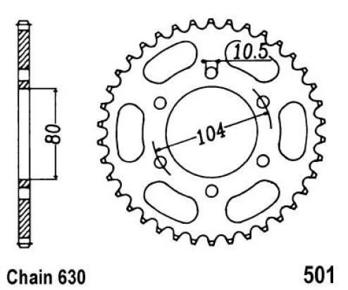Sprocket REAR 33-teeth Z1000