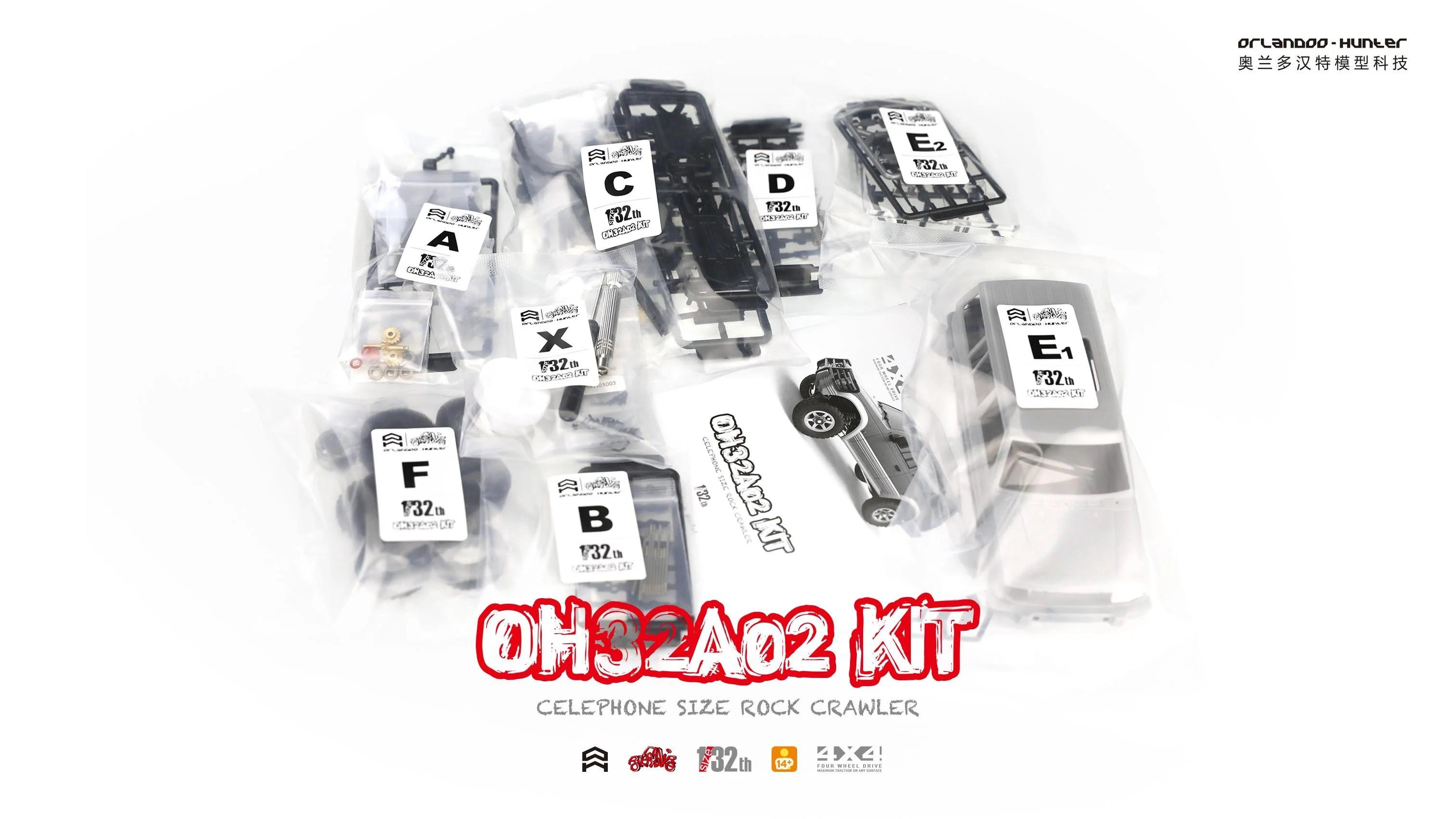 Orlandoo Hunter Oh32a02 1 32 Micro Crawler Kit Mitsubishi Pajero