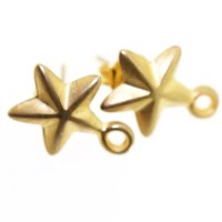 Gold Star Earring Fitting