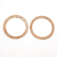 Rose Gold Hammered Linking Rings