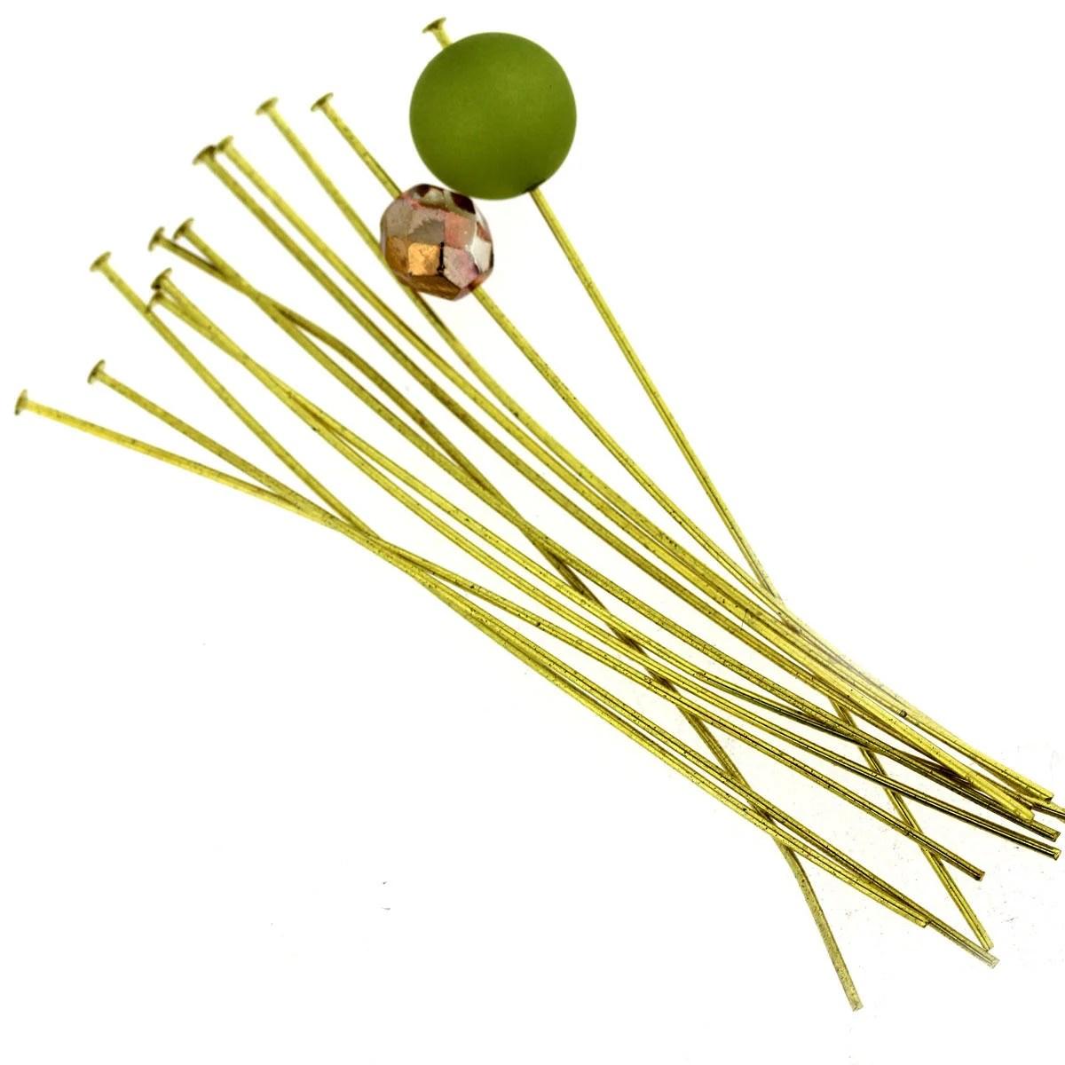 Light Gold Extra Long Head-Pins
