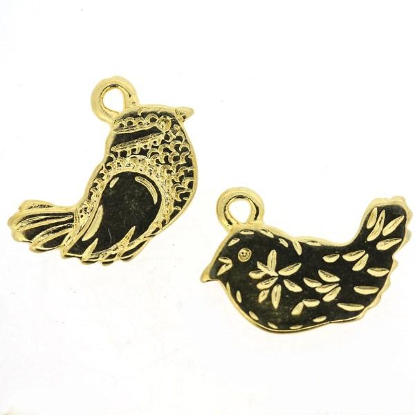 Gold Twittering Bird Charm