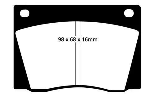 C39136 E-TYPE FRONT BRAKE PADS (MINTEX BRAND) JLM9515