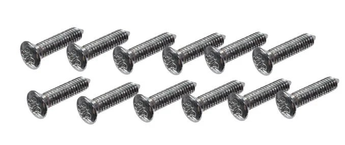 BD26675/4 E-TYPE SET OF 12 HEADLAMP FINISHER SCREWS