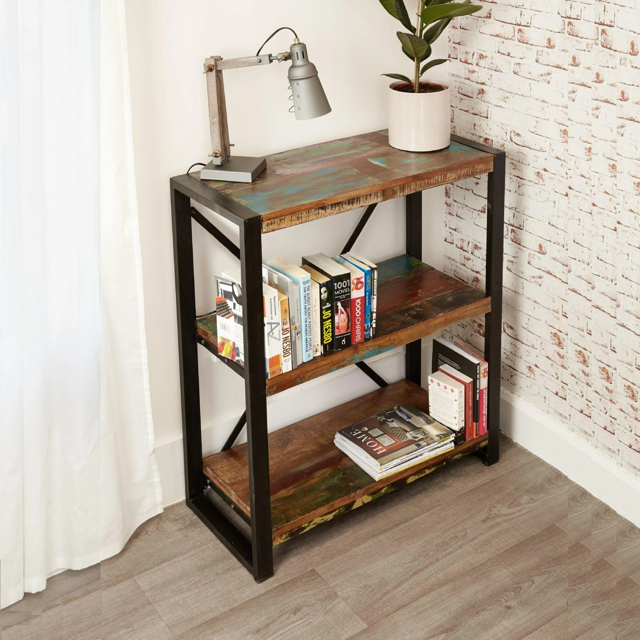 Industrial Chic Low Bookcase