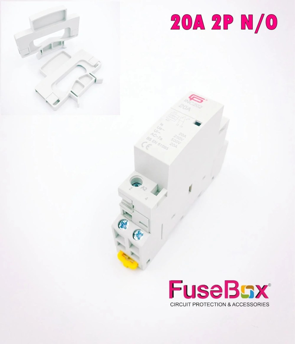 medium resolution of fusebox cp electric installation contactor 2 or 4 n o poles 20a 25a 40a