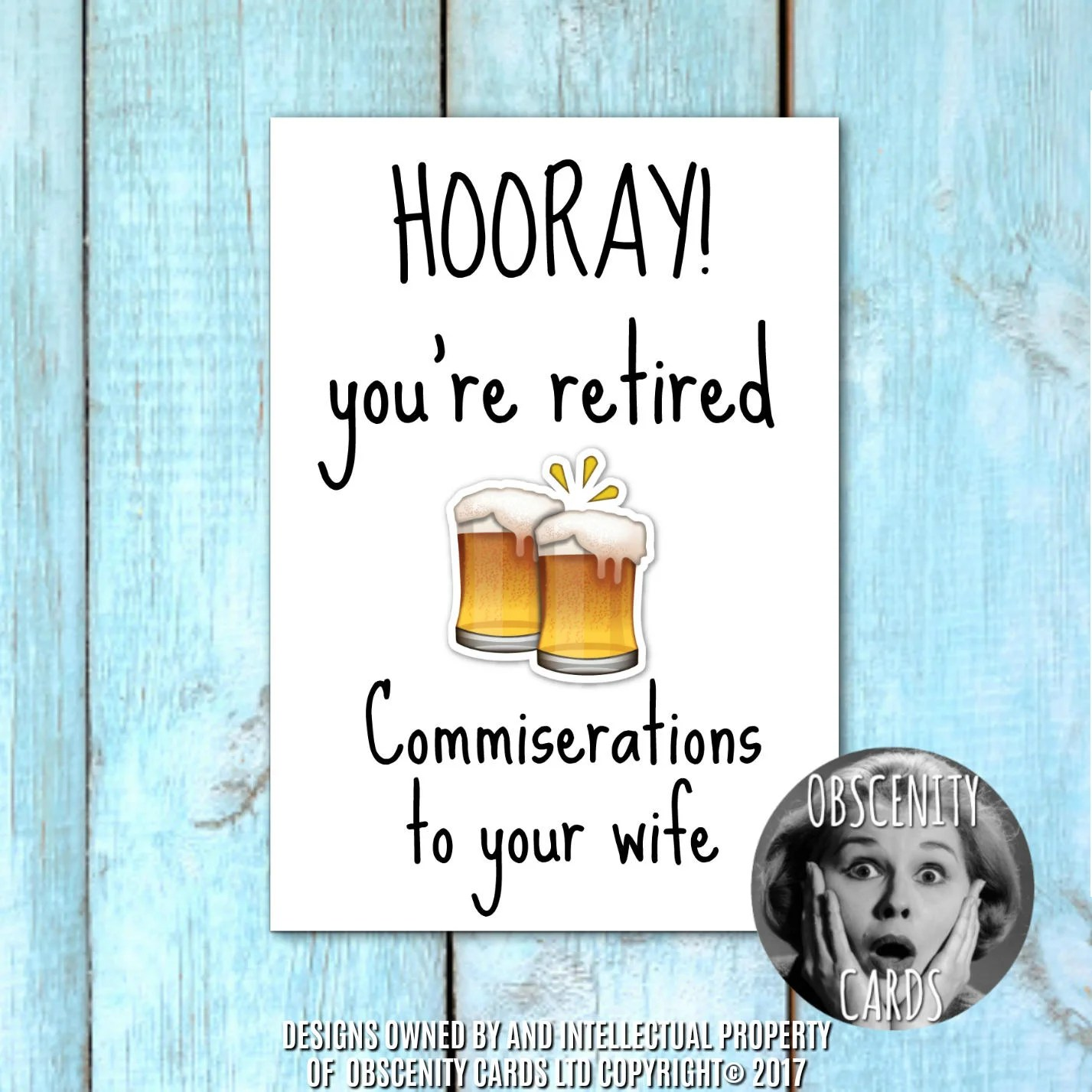 Retirement Card Commiserations To Your Wife Or Husband