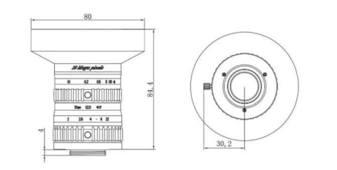 HIKVISION C-Mount 12mm 4/3