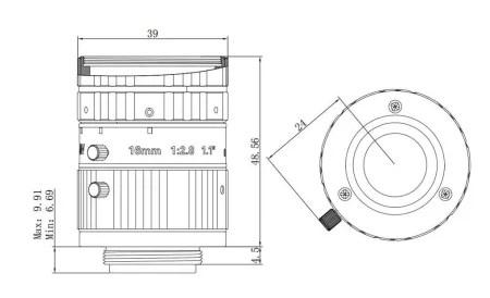 HIKVISION C-Mount 16mm 1.1