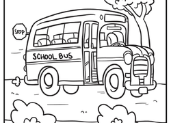 Kindergarten Vehicles Coloring Pages & Printables