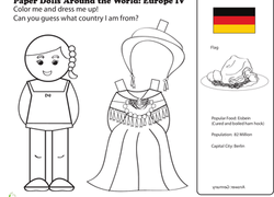 1st Grade Paper Dolls Coloring Pages & Printables