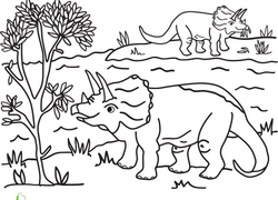 1st Grade Dinosaurs Coloring Pages & Printables Page 3