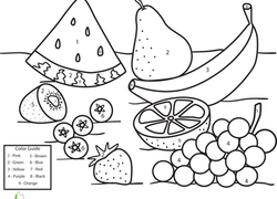 Kindergarten Color by Number Coloring Pages & Printables
