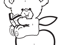 Color by Number Coloring Pages & Printables Page 10