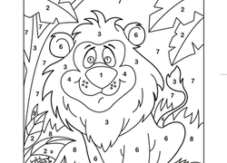 Preschool Color by Number Coloring Pages & Printables