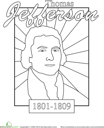 Thomas Jefferson Facts And Pictures Sketch Coloring Page