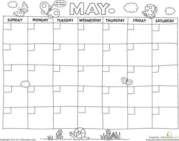 Create a Calendar - Preschool Printables | Education.com