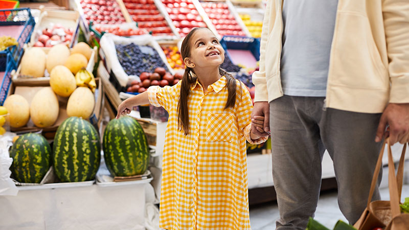 Create learning opportunities with grocery shopping
