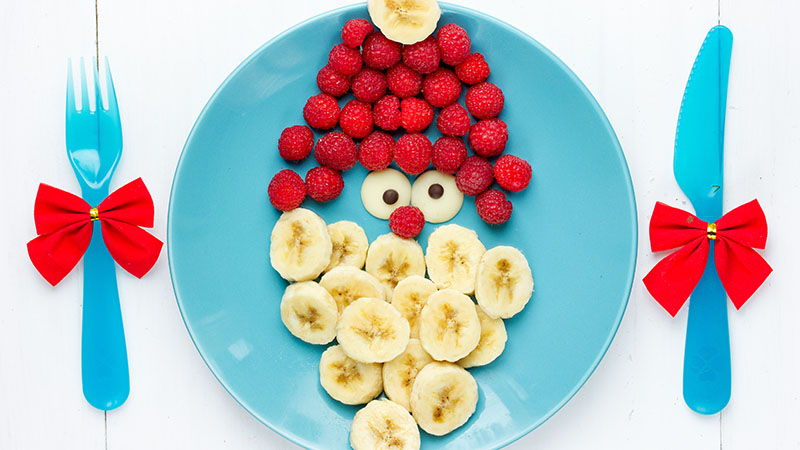 Santa Clause fruit face