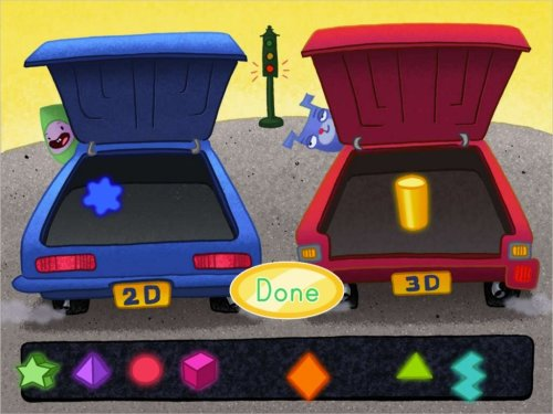 small resolution of 2D and 3D Shape Sort: Car - Math Game   Game   Education.com