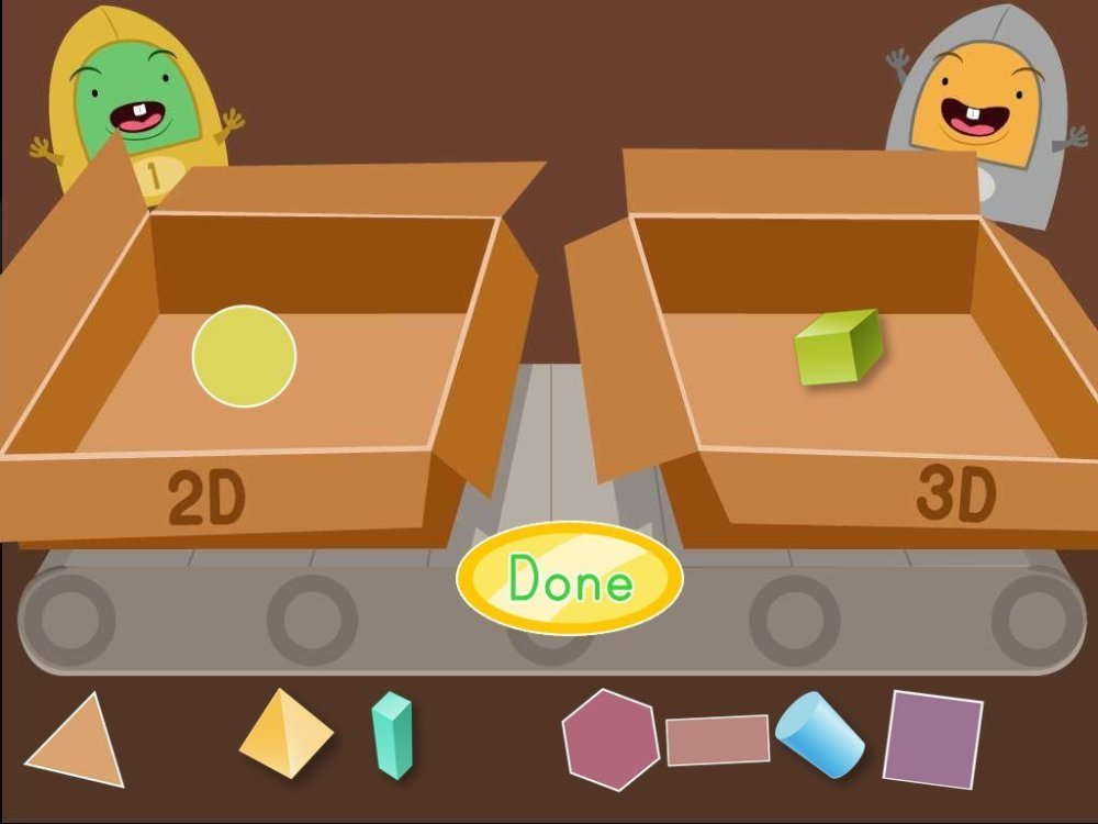 medium resolution of 2D and 3D Shapes Factory Game   Game   Education.com