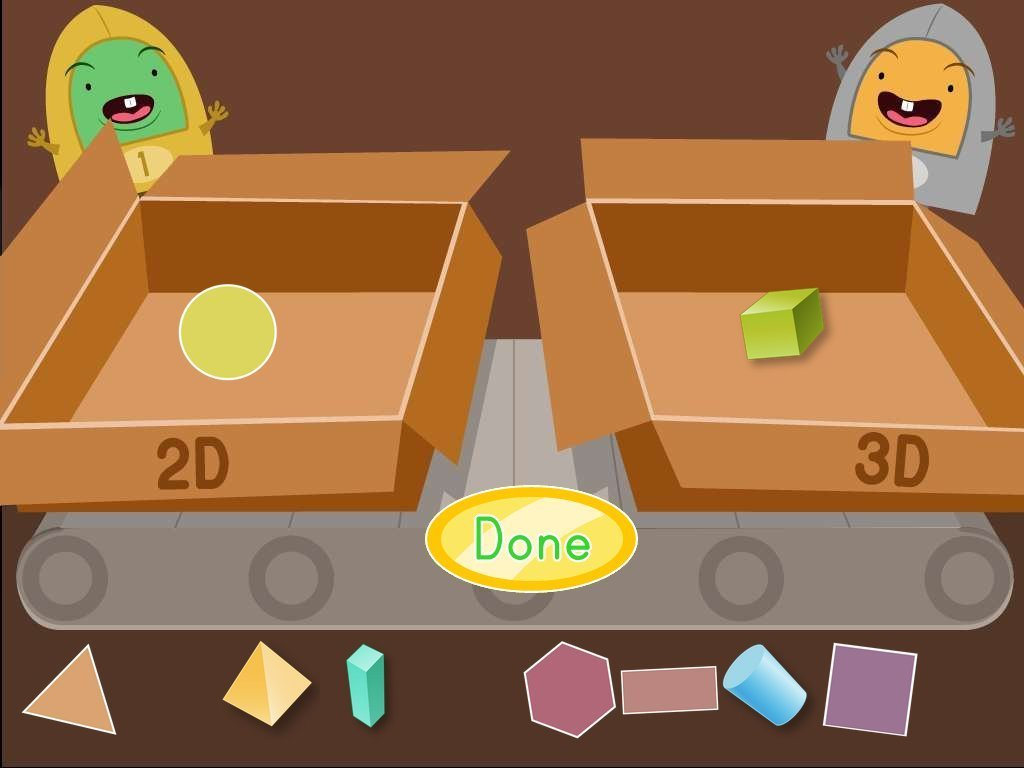 hight resolution of 2D and 3D Shapes Factory Game   Game   Education.com