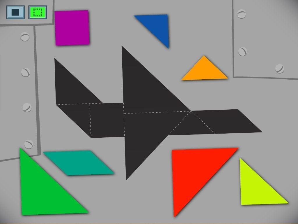 Airplane Tangram Game