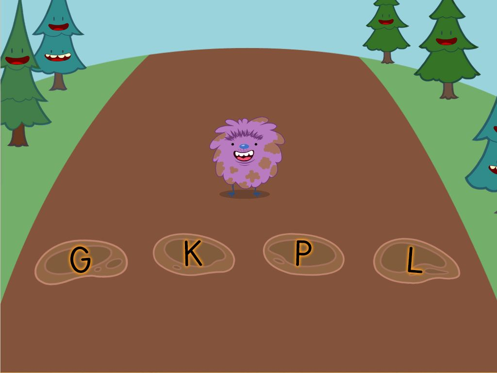Alphabet Mud Puddle Game