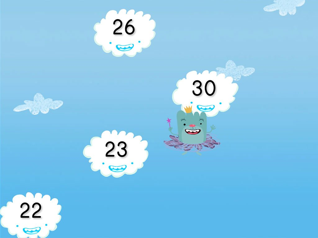hight resolution of Cloud Catcher Numbers 20-30   Game   Education.com