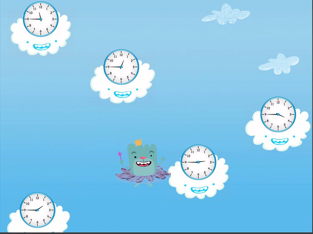 hight resolution of Cloud Catcher: Telling Time to the Quarter-Hour   Game   Education.com