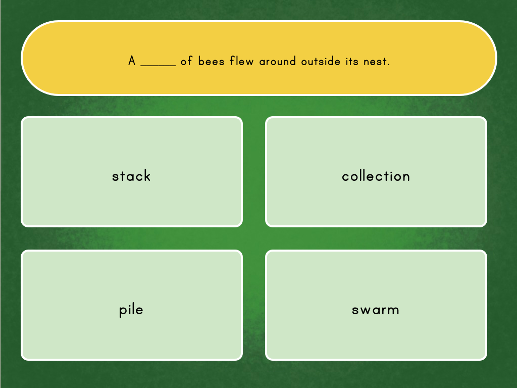 hight resolution of Collective Nouns Quiz   Game   Education.com