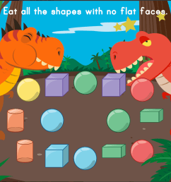 Dino Crunch: Attributes of 2D and 3D Shapes   Game   Education.com [ 768 x 1024 Pixel ]