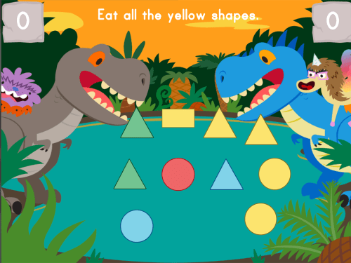 small resolution of Dino Crunch: Colors   Game   Education.com