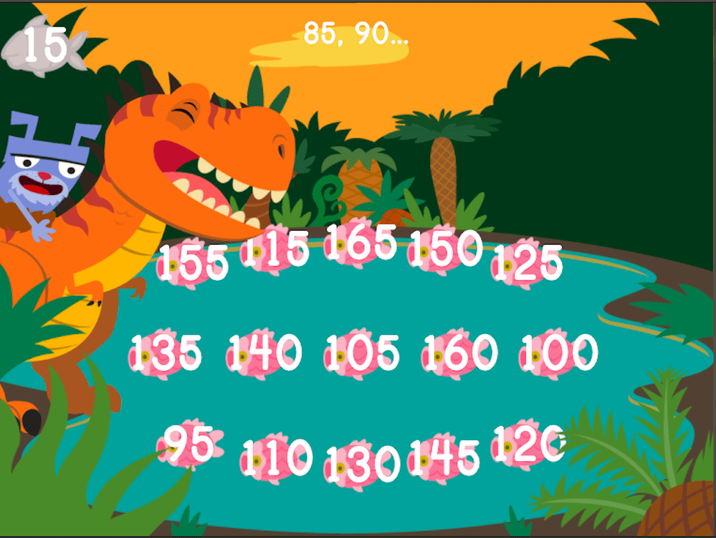 Dino Crunch Skip Counting By 5s