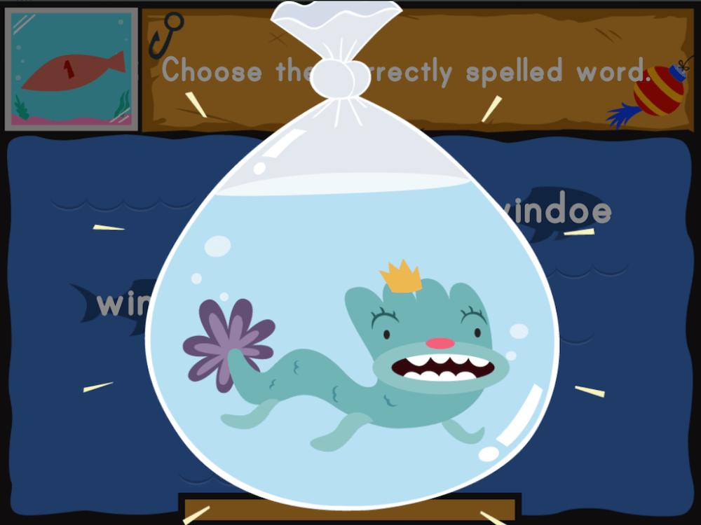 medium resolution of Dino Fishing: Spelling Fun   Game   Education.com
