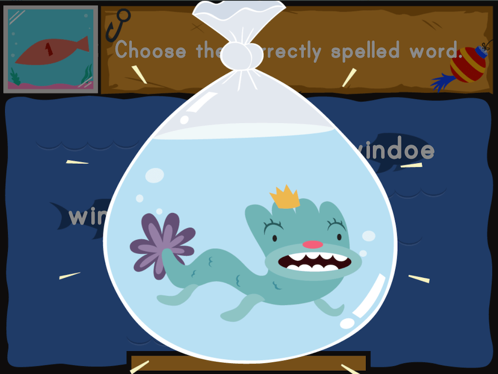 hight resolution of Dino Fishing: Spelling Fun   Game   Education.com