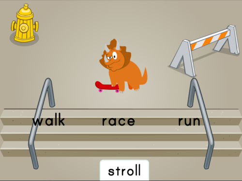 small resolution of Dino Skateboarding: Synonyms   Game   Education.com