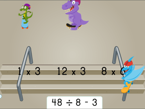 small resolution of Dino Skateboarding: Which Expressions Have the Same Product?   Game    Education.com