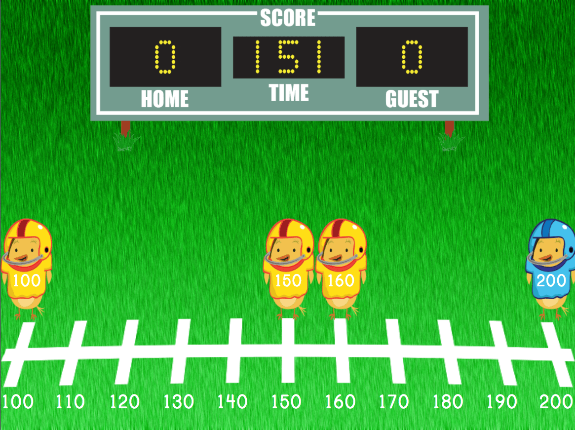 hight resolution of Rounding Three-Digit Numbers on a Number Line   Game   Education.com