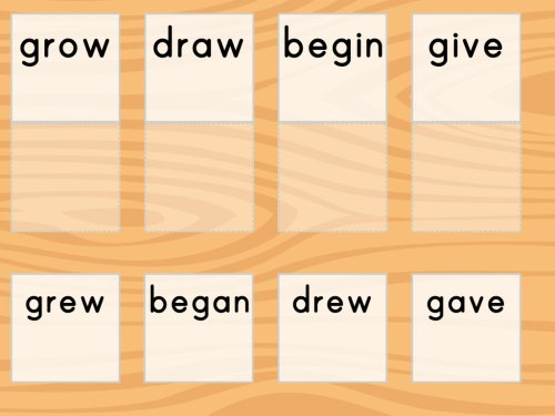 small resolution of Irregular Verbs Match   Game   Education.com