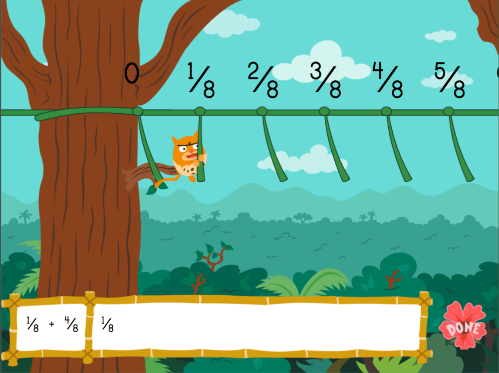 medium resolution of Adding Fractions with Like Denominators: Jungle Edition   Game    Education.com