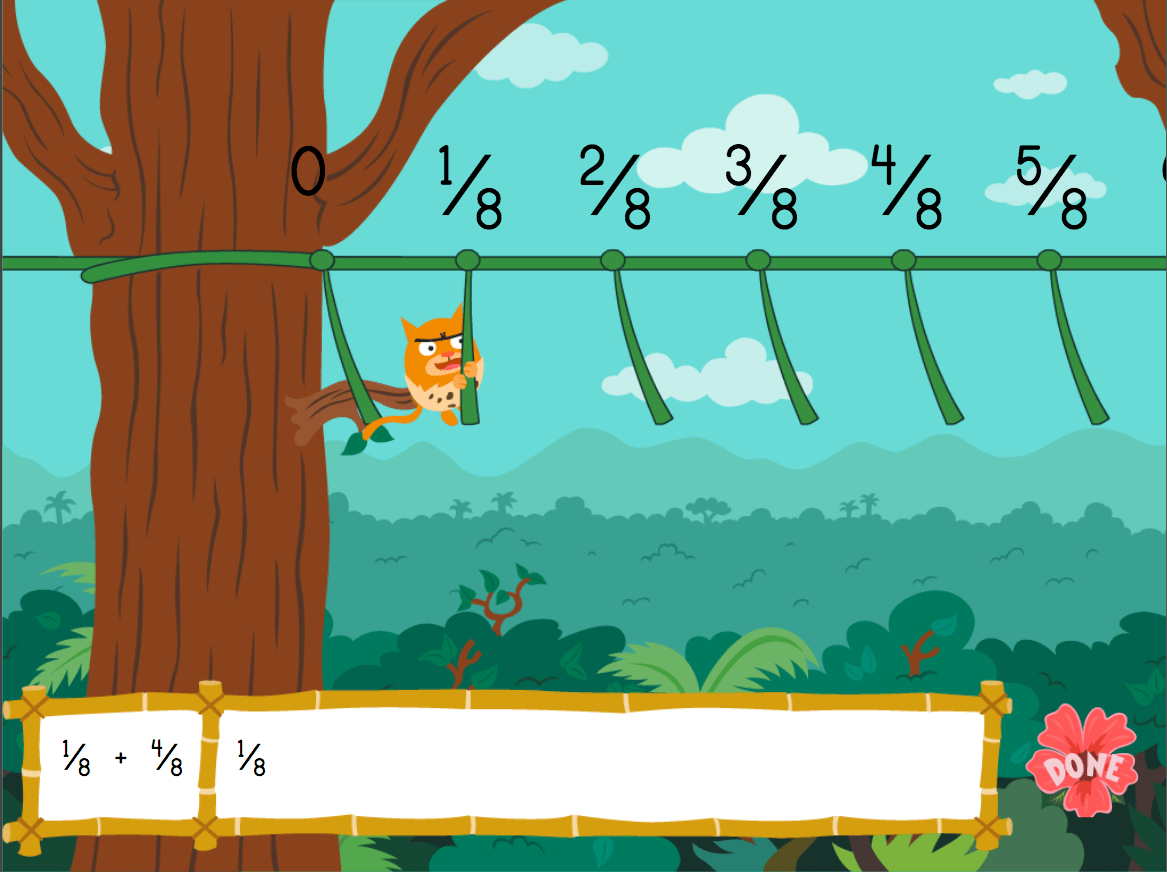 hight resolution of Adding Fractions with Like Denominators: Jungle Edition   Game    Education.com